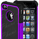 iPhone 4 Case 4S Hard Silicon Shock Proof Defender Cover Dual Layer for Apple  <br/> iPhone 4S iPhone 4 Case 1st Class Post