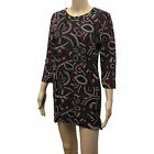 LADIES WOMENS LUREX FLOWER FLORAL SLEEVE SHIFT PARTY CASUAL DRESS SIZE 8-12