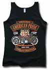 Original American Pride USA Biker Harley 66 Womens Ladies Soft-Style Vest Sm-2XL