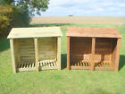 DOUBLE 4FT OUTDOOR WOODEN LOG STORE - ALSO AVAILABLE WITH DOORS.