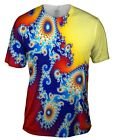 Yizzam- Mandel Fractal Center Blue - New Men Unisex Tee Shirt XS S M L XL 2XL 3