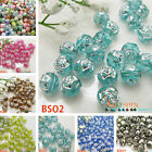 8mm 190pcs Rose Flower Style Acrylic Loose Beads For DIY Craft Bracelets Jewelry