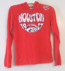 ProEdge Girls Houston Cougars Red Long Sleeve Hoodie Shirt Size 7-8 10-12 NWOT
