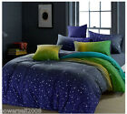 Comfortable Soft Starry Sky Printing Cotton Quilt Cover Set Home Bedding &$