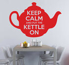 Keep Calm and Put The Kettle On Vinyl Wall Sticker / Wall Decal / Quote /Kitchen