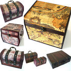***SECONDS*** Colonial Retro style Wooden Chest/Box/Trinket Box/Trunk CLEARANCE