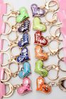Acrylic Flower Star Sun Padlock Shoe Bag Duck Owl Heart Cat Charm Keyring