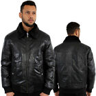Aviatrix US Flying Vegas Geniune Leather Jacket Black Pilot Top Gun Bomber Air