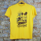 Quiksilver new Smacked Down Casual/Summer Short Sleeve T-Shirt Yellow size S/L