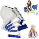 6x Kitchen Cleaning Brushes Sweeping Carpet House Window Floor Clean Dustpan Kit