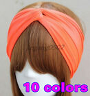 Turban Twist Cotton Headband women head wrap Twisted Knotted Knot Soft hair band