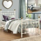 Atlas Metal Traditional Bed with 4 Mattress, 3 Colour and 3 Size Options