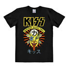 Kiss T-Shirt - Logo - Hotter Than Hell T-Shirt - schwarz – LOGOSHIRT