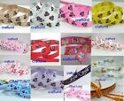 "3/8"" 5/8"" (~10mm 16mm) print Grosgrain Satin Ribbon Mouse Skull  U PICK"