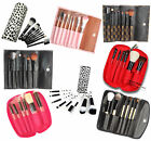 NEW LyDia professional makeup cosmetic brush set Black/Pink/Brown with case