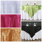 "60x60"" Square Pintuck TABLE OVERLAY Fancy Wedding Party Catering Unique Linens"