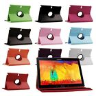 PU Leather Rotating Case Cover for Samsung Galaxy Note 10.1 2014 Edition SM-P600
