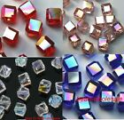 20pcs 6mm Red/Pink/Blue Crystal Rhinestone Cube Findings Spacer Beads