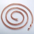 4MM Mens Womens Chain Unisex Wheat Rose Gold Filled GF Necklace Personalize Size