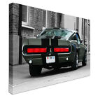 Mustang shelby 1967 Eleanor Rear B&W Canvas Wall Art Print Large + Any Size