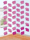 Amscan Pink Silver Foil Adult Birthday String Hanging Party Decoration