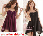 Sexy ! Women's Nightwear Sleepwear  Babydoll Dress Pajamas Lingerie+G-string