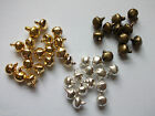 6mm Small Jingle Bells x25 Gold Silver Bronze Mini Tiny Craft Cardmaking (204)