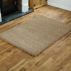 Beige Small Large Shaggy Thick 5cm High Pile Modern Quality Rugs Runner Circle !
