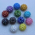 50PCS 14mm Mix color Round Acrylic Spacer Beads Thorn ball Charm Beads
