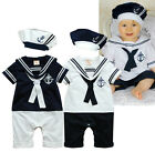 Baby Boy Clothes - Cool Sailor Marine Outfit Set 3 6 9 12 18 Months, Infant NEW