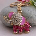 Hot Lovely Elephant Charm Pendent KeyChain Crystal Purse Bag Key Chain YSK90