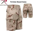 TRI- COLOR DESERT Camouflage Military BDU Combat Cargo Shorts Poly/Cotton 7672