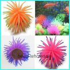 2Pcs New Silicone Aquarium Fish Tank Decor Artificial Coral 4cm