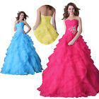 Princess Layered Wedding Evening Party gown Quinceanera Formal Long Prom Dresses