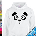 Unisex Cute Panda Face Hoodie - Animal Lover Gift - Funny Secret Santa Bear Hood