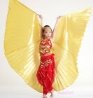New Kids Belly Dance Costume Children's Isis Wings Gold/Silver/White (No stick)