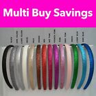 ✿ Girls Glitter Alice Band Headband Hair Band Accessory ✿ BUY 2 GET 1 FREE ✿ UK
