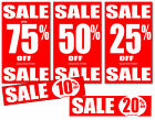sale posters and sale signs %off package for shop point of sale you choose