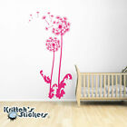 Dandelion Vinyl Wall Decal blowing flower floating seeds home art decor BD339