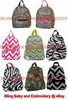 Mini Backpack Chevron Zebra Camo Camouflage Leopard Lime Green Pink Grey Black