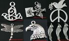New Tibetan Silver Glede Swallow Dragonfly Parrot Animal Findings Charms Pendant