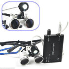 Newest Dental Surgical Binocular Loupes 3.5 x 420mm + LED Dental Head Light lamp