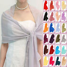 Large 220x75cm Women Chiffon Satin Soft Silk Shawls Scarves Evening Wraps ac1122