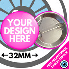 Custom Badges Personalised Wedding Stag Hen Bespoke Birthday Badge 25mm 38mm 59 <br/> FREE DESIGN SERVICE - FAST SHIPPING AS STANDARD