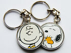 CHARLIE BROWN & SNOOPY Classic Cartoon Quality Chrome Keyring Choose Your Design