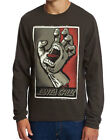 Santa Cruz Screaming Hand Vintage Black Crew Mens Sweatshirt,Skate,Skateboarding