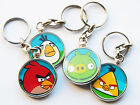 ANGRY BIRDS Mobile Smart Phone Game Quality Chrome Keyring Choose Your Bird!