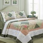 Laura Forest Real Patchwork Reversible 100%Cotton Quilt Set, Bedspread, Coverlet image