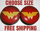 NEW! Wonder Woman Threaded Ear Plugs Gauges Piercing CHOOSE SIZE Free Shipping!
