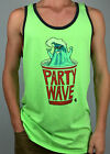 BILLABONG. Men's PARTY WAVE Singlet Tank Top. GREEN, BLUE, WH. S, M, L, XL & XXL